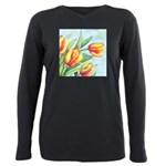 Tulips Watercolor Plus Size Long Sleeve Tee