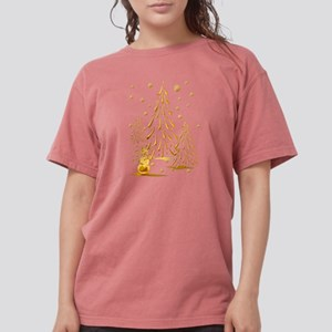Gold Snowman and Christmas Tr T-Shirt