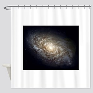 Spiral Galaxy NGC 4414 by the Hubbl Shower Curtain