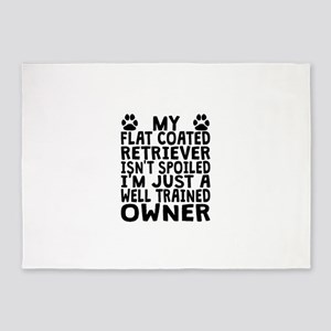 Well Trained Flat-Coated Retriever Owner 5'x7'Area