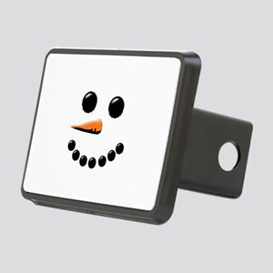 Happy Snowman Face Rectangular Hitch Cover