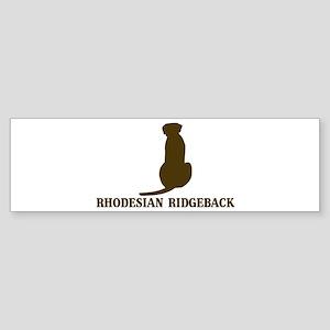 Rhodesian Ridgeback (brown) Bumper Sticker