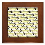 Amazon Pellona fish Pattern Framed Tile