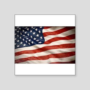 Grunge USA Flag Canvas Print Sticker