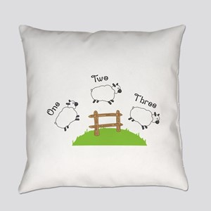 One Two Three Everyday Pillow