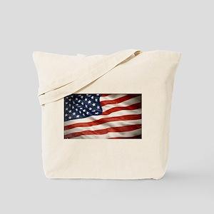 Grunge USA Flag Canvas Print Tote Bag