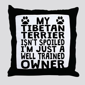 Well Trained Tibetan Terrier Owner Throw Pillow