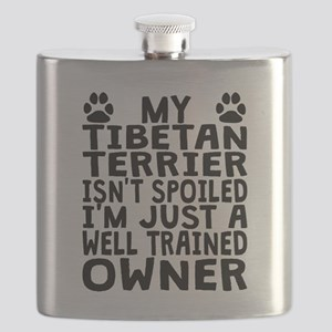 Well Trained Tibetan Terrier Owner Flask