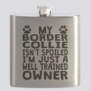 Well Trained Border Collie Owner Flask