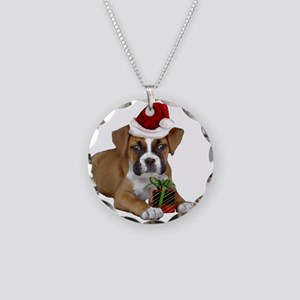 Christmas Boxer puppy Necklace