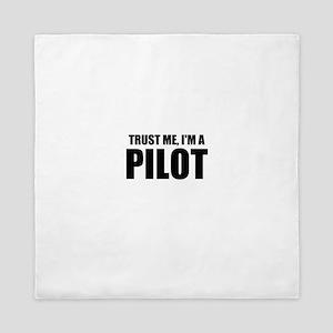 Trust Me, I'm A Pilot Queen Duvet