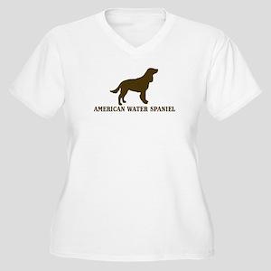 American Water Spaniel (brown Women's Plus Size V-