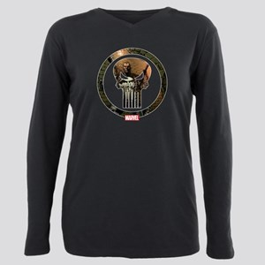 The Punisher Icon Plus Size Long Sleeve Tee