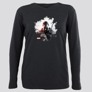 The Punisher Brush Plus Size Long Sleeve Tee