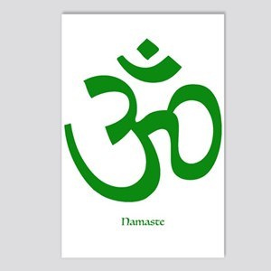 Namaste Om Symbol Postcards (package Of 8)