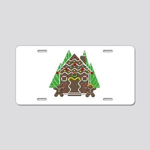 Gingerbread House With Chri Aluminum License Plate