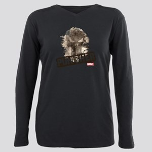 Punisher Grunge Plus Size Long Sleeve Tee