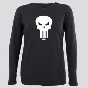Punisher Skull Plus Size Long Sleeve Tee