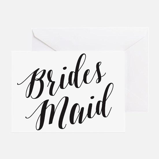 Cute You my bridesmaid Greeting Card