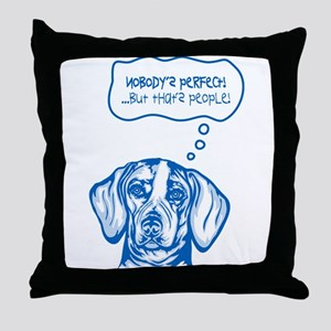 American English Coonhound Throw Pillow