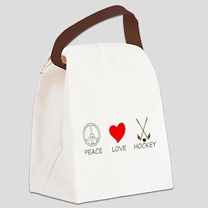 peace love Canvas Lunch Bag