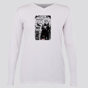 Punisher Typography Plus Size Long Sleeve Tee