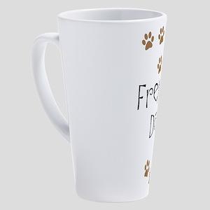 Frenchie Dad 17 oz Latte Mug