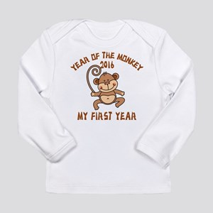 Born Year of The Monkey Long Sleeve Infant T-Shirt