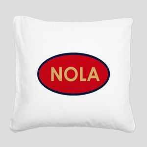 NOLA GOLD RED Square Canvas Pillow