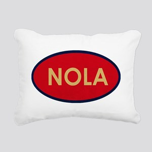 NOLA GOLD RED Rectangular Canvas Pillow