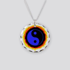 Fiery Yin Yang Necklace
