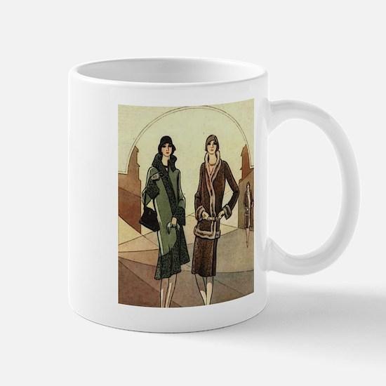Flapper Girls Winter Fashions Mugs