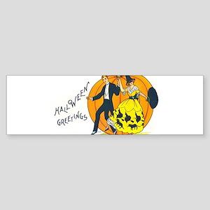 Halloween Greetings 1920s Bumper Sticker