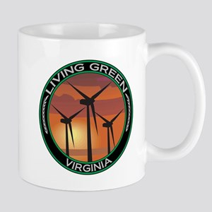 Living Green Virginia Wind Power Mug