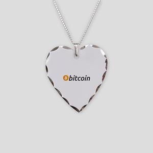 Bitcoin Necklace Heart Charm