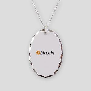 Bitcoin Necklace Oval Charm