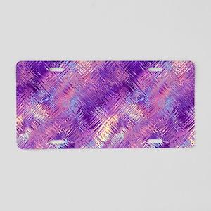 Pretty Purple Crystal Aluminum License Plate