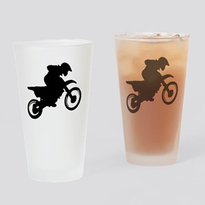 Motorcycle trials Drinking Glass
