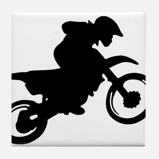 Motorcycle trials Tile Coaster