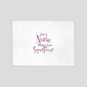 Super Nurse 5'x7'Area Rug