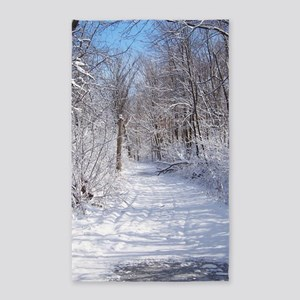 Snow Trail Scenery Area Rug