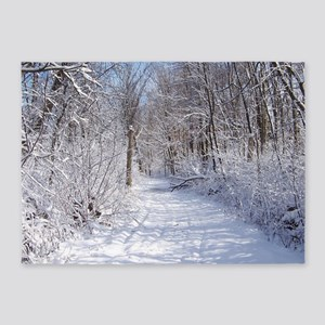 Snow Trail Scenery 5'x7'Area Rug