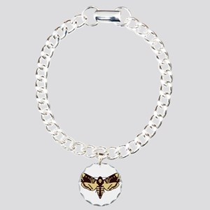 skull butterfly Charm Bracelet, One Charm