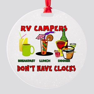 RV CAMPERS Round Ornament