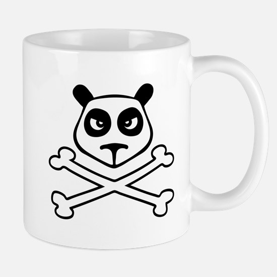 panda skull Mugs