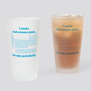 Bad Science Puns Periodically Drinking Glass