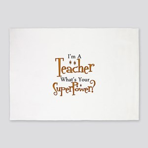 Super Teacher 5'x7'Area Rug