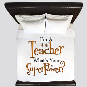 Super Teacher King Duvet