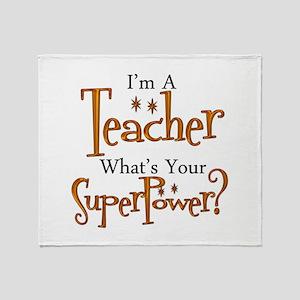 Super Teacher Throw Blanket