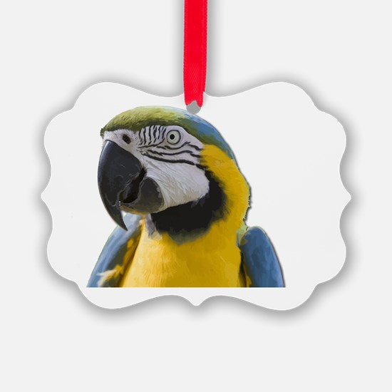 Funny Macaw Ornament